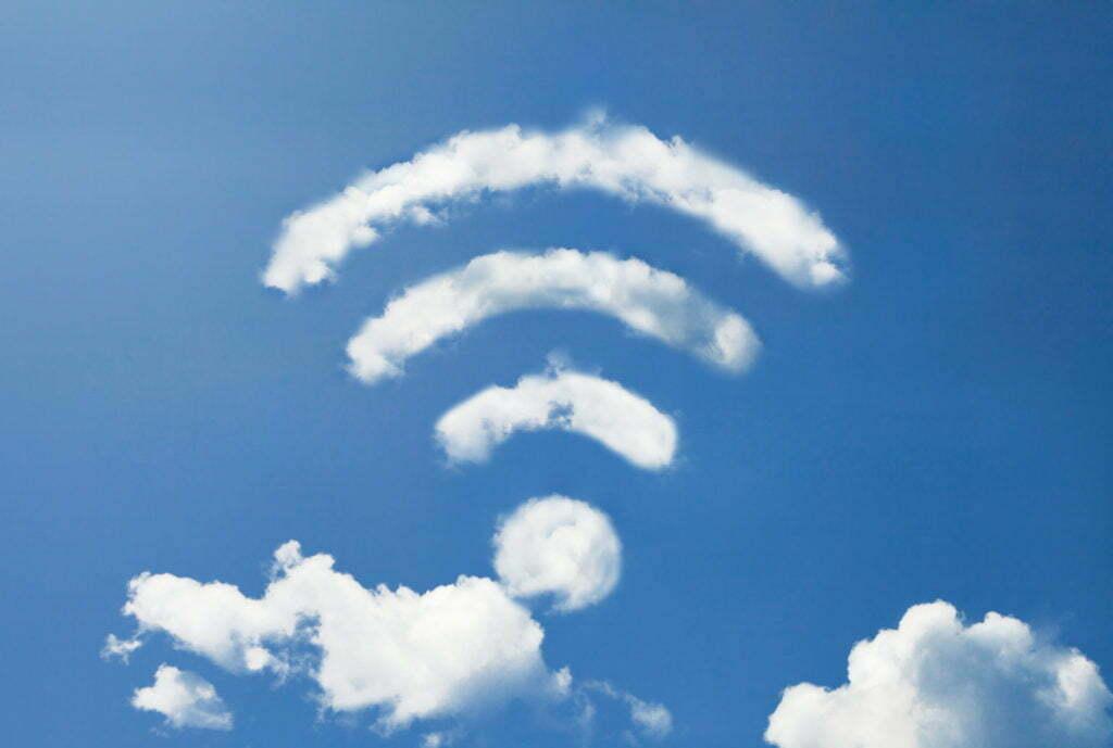 """Wi-fi """"desenhado"""" nas nuvens"""
