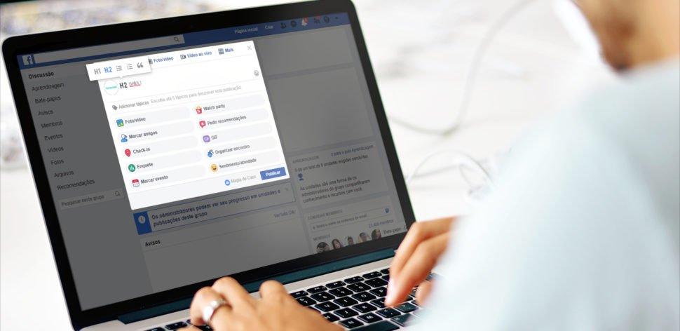 Grupos do Facebook permitem formatação da fonte nas postagens