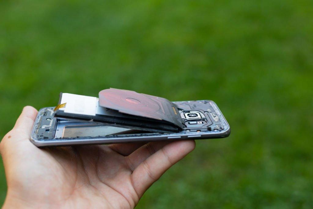inchaço da bateria
